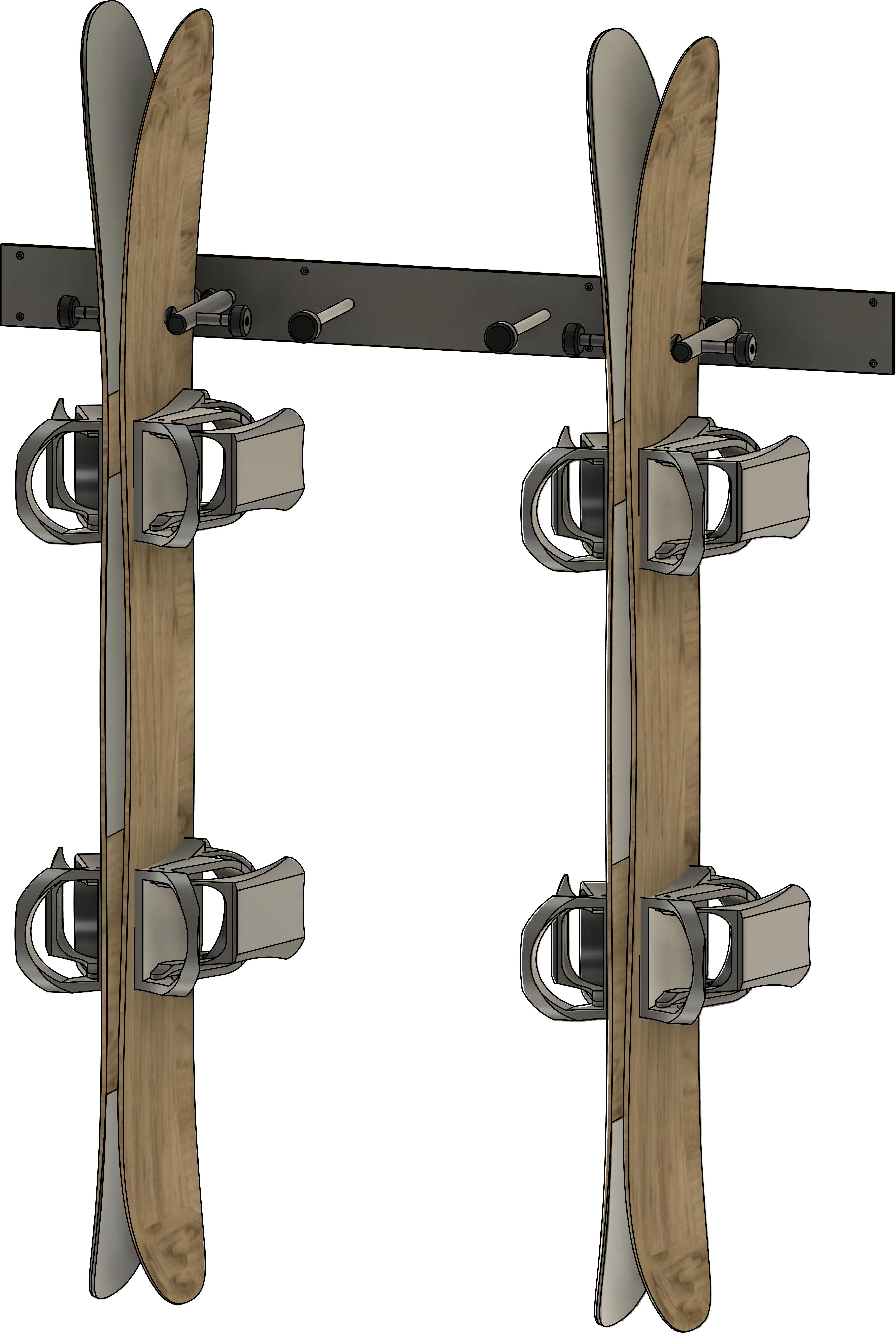 Vertical Dually Held Wall Rack
